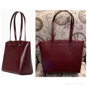 Kate Spade Jeanne Laptop Tote Cherrywood Leather